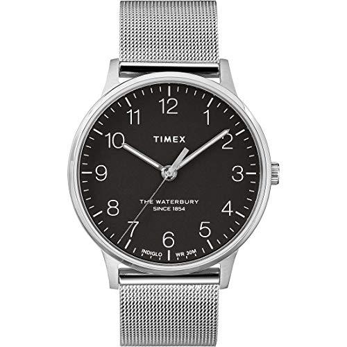 Timex Herren Analoger Quarz Uhr mit Edelstahl Armband TW2R71500