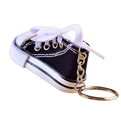 Fablcrew Key Chain r Canvas Schuh Schlüsselanhänger Linker Fuß Schlüsselanhänger für Freizeitschuhe Farbiger Schuhanhänger