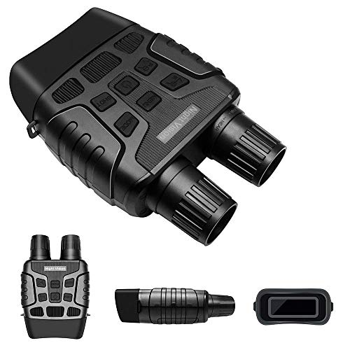 KAUTO Binoculares de visión Nocturna Digital con Zoom 4X con Capacidad de Video de cámara para observación de vigilancia de espeleología de Caza al Aire Libre
