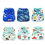 KaWaii Baby Happy Leak-Free One Size Diaper Cover for Boy & Unisex, Diaper Cover, Boy Diaper Cover - Pack of 6