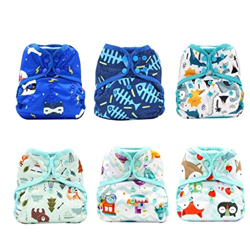 KaWaii Baby Happy Leak-Free One Size Diaper Cover for Boy & Unisex, Diaper...