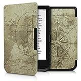 kwmobile Funda Compatible con Pocketbook Touch Lux 4/Lux 5/Touch HD 3/Color (2020) - Carcasa para e-Reader de Piel sintética - marrón/marrón Claro