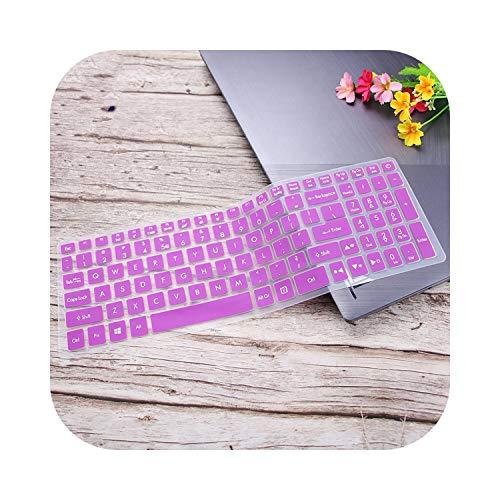 Housse de clavier en silicone pour ordinateur portable Acer Predator Helios 300 Nitro 5 AN515 | Aspire VX 15 VX5-591G V17 VN7-793G - Violet