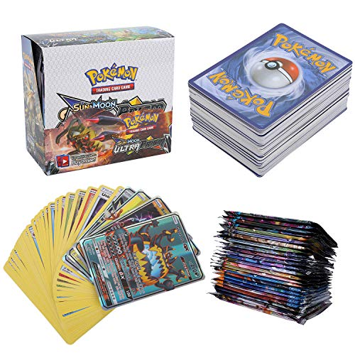 324 Piezas Pokemon Cartas, Juego de Cartas, Tarjetas de Pokemon, 36 Piezas GX Cartas, Sun & Moon Series (Ultra Prism Series)