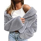WUDUBE Cappotto Invernale da Donna Mantenere Caldo Capispalla Sciolto Cappotto di Pelliccia Sintetica Outwear