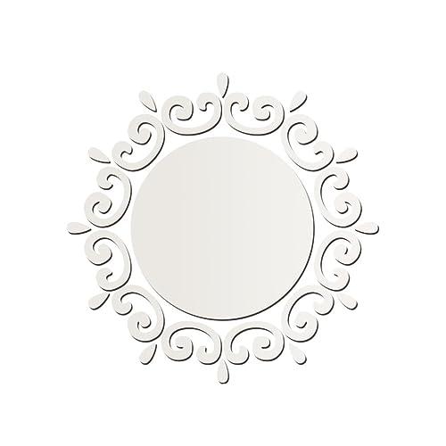 WINOMO Sticker Mural Miroir Décoration en PVC Autocollant Mural Amovible pour Chambre Salle de bain Salon Toilette