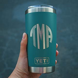 Custom YETI Tumbler 20 Oz with Name or Monogram - All Colors and 50+ Designs - Personalized YETI Travel Mug Custom YETI Rambler Tumbler Engraved YETI Monogrammed Yeti Coffee Tumbler YETI Mug