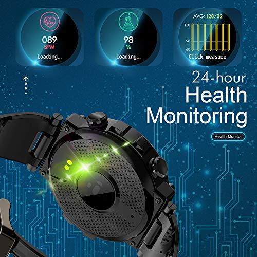 GOKOO Reloj Inteligente Hombres Smartwatch Reloj Deportivo Inteligente Información Notificación Pantalla Táctil Completa Smartwatch Impermeable IP68 Compatible con Android iOS (Nergo) miniatura