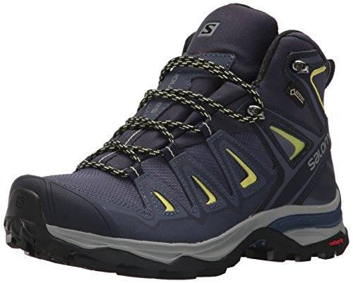 SALOMON Damen Multi-Stiefel X Ultra 3 Mid GTX Women Trekking- & Wanderstiefel, Blau (Crown Blue/Evening Blue/Sunny Lime 000), 41 1/3 EU
