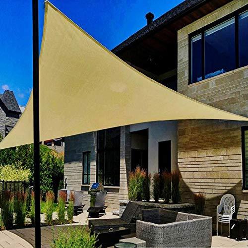 LXHONG-Malla Sombra De Red Con Anillo D, Anti-UV Hidratante, Red De Protección Solar De Arco Triangular para Exteriores De HDPE, Balcón Hogar Jardinería Terraza Redes De Sombra, Beige