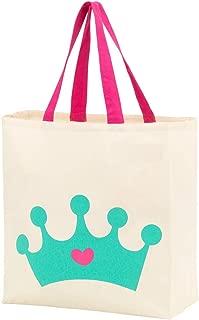 Custom Personalized Halloween Bag Trick or Treat Tote Storage Pumpkin Witch Monster Princess (Blank - Princess Crown)