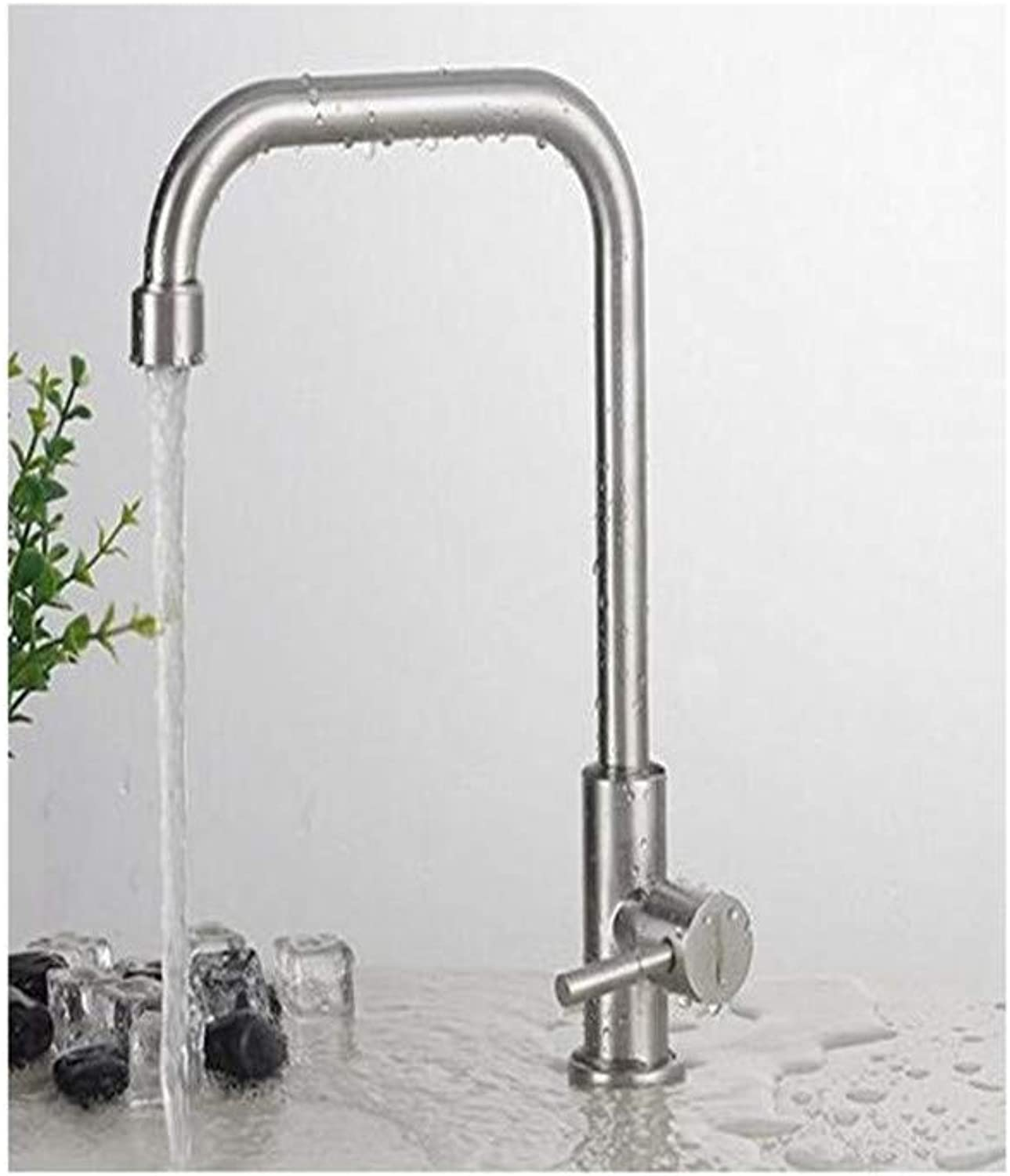 Vintage Brass Hot and Cold Bathroom Kitchen Faucetstainless Steel Single Cold Faucetsink Cylindrical greenical Faucet