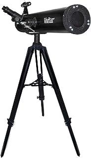 Telescópio refletor com lente 76 mm, ampliação 525x e tripé, Vivitar, VIVTEL76700