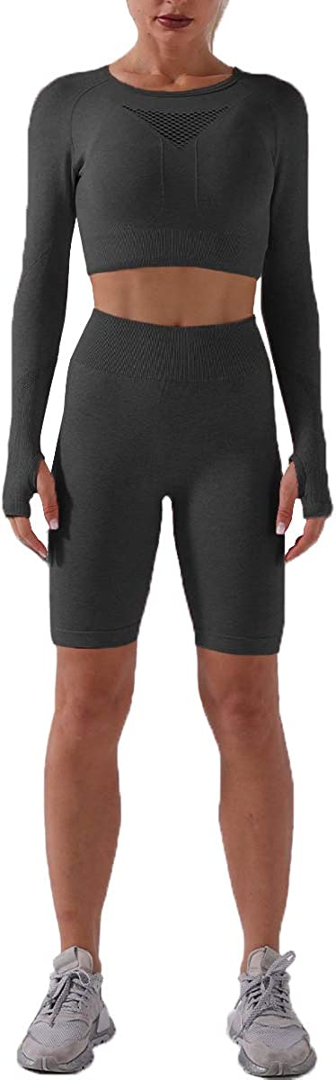 CHYRII Women's Now on sale Japan's largest assortment Seamless 2 Piece Workout Yoga Sets Gym Ac Running