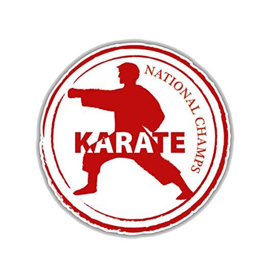 Auto-Aufkleber 13 cm * 13 cm Karate Retro Pass Stempel PVC Motorrad Auto Aufkleber