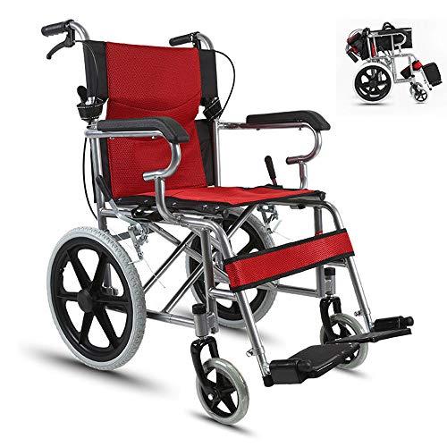 HPDOSHP Rollstühle mit Selbstantrieb - Transportrollstühle - Leichte Rollstühle für Erwachsene - Drive Transport Rollstuhl - Ultraleicht und voll faltbar, Rollstuhl mit Verstellbarer,A-03