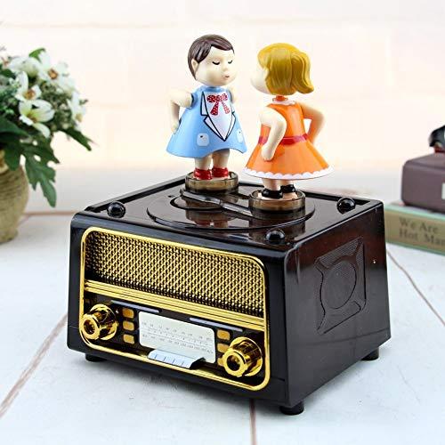 KYVIS Pareja BesoRegalo De Cumpleaños Caja De Música DIY Radio