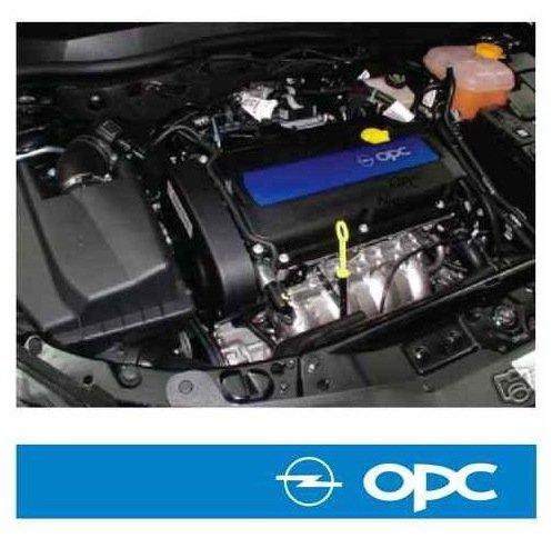snstyling.com Pegatina para Encajar Opel OPC Valve Cover Pegatina Vectra Corsa Astra Zafira A B C D E F G H (Azul – Blanco)