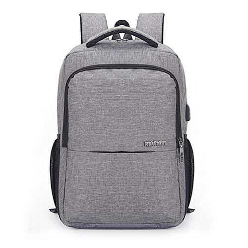 HXZB Rucksack Wiederaufladbare Hochleistungs-Computer-Tasche Geschäftsreise Tasche,Gray