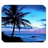 Tropical Hawaii playa palmera sol de verano Rectángulo ratón Pad...