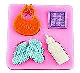 Molde de silicona para uso alimentario de 4 accesorios para bebé - Zapatos...