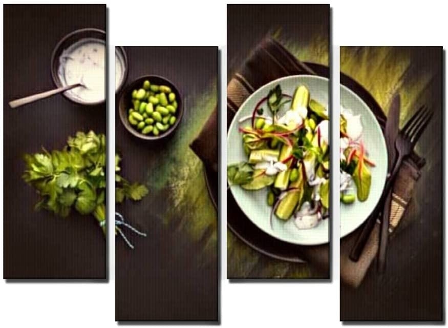 Black and White Canvas Wall OFFicial shop Art Salad Living wit Salads for Surprise price room