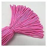 LCHB 10 Yards/Lot de 2 mm Solide Corde de Parachute Escalade Équipement de Corde de Camping (Color : Light Pink)