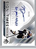 2017-18 SP Authentic Sign of the Times Rookies Inscribed #SOTR-VD Vince Dunn Auto Autograph SER/10 St. Louis Blues