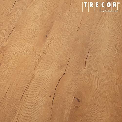 TRECOR® Klick Vinylboden RIGID 3.2 Massivdiele - 3,2 m stark mit 0,15 mm Nutzschicht - Sie kaufen 1 m² - WASSERFEST (Vinylboden 1 qm, Prestige Eiche)