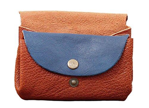 LE GUSTAVE bicolore Marrone/Blu portafoglio in pelle stile monedero epoca PAUL MARIUS