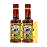 Walkerswood Las' Lick Jerk Sauce Bundle (2 Pack) - 6 Fl Oz (185mL) per Bottle - Experience the Traditional Caribbean Flavor - Comes with a Premium Penguin Measurements Card