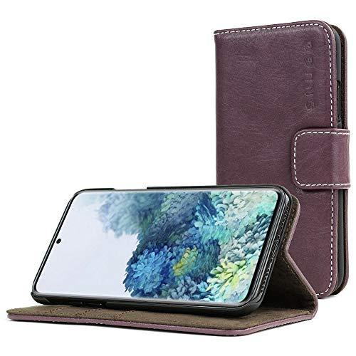 Snugg Cover Galaxy S20 Flip Custodia Case [Slot per Schede] Pelle Portafoglio Progettazione Esecutiva [Garantita a Vita] - Ametista Viola, Legacy Range