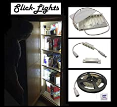 Slick-Lights DIY Light Kit for Pantry and Closet - Intuitive Longer-Lasting, 16ft Strip (5M), 300-LED Stick-on Anywhere Battery Operated, Door Activated Proximity Sensor