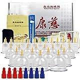 MXCYSJX Vakuum-Schröpfgerät 30 Dosen Set Geschenkbox Home Medical Pumpgasflasche