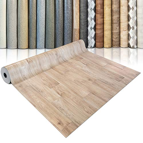 CV Bodenbelag Antique Oak - extra abriebfester PVC Bodenbelag (geschäumt) - Eiche Antik - edle Holzoptik - Oberfläche strukturiert - Meterware (200x3000 cm)