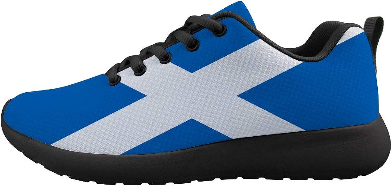 Owaheson Cushioning Sneaker Trail Running shoes Mens Womens Scotland Flag