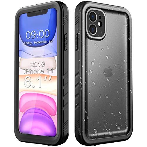 Cozycase für iPhone 11 Hülle Wasserdicht IP68, Ganzkörper Schutzhülle Rugged Case [Wasserdicht] [Staubdicht] [Stoßfest] mit eingebautem Displayschutzfolie für iPhone 11 (6,1