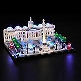 BRIKSMAX Kit di Illuminazione a LED per Lego Architecture Trafalgar Square, Compatibile co...