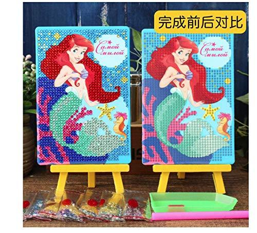 Princess Diy Diamond Stickers Met Houder Gereedschap Handgemaakt Kristal Plakken Schilderen Mozaïek Puzzel Speelgoed Kinderen Kind Stickers Speelgoed Cadeau