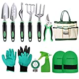 DEWINNER <span class='highlight'>Garden</span> Tool Set, <span class='highlight'>Hand</span> Tool Gift Kit, Outdoor <span class='highlight'>Garden</span>ing transplanting for <span class='highlight'>Garden</span>er, with heavy duty hold bag for storage