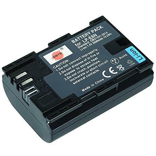 DSTE Ricaricabile Li-ion Batteria Compatibile per Canon LP-E6N LP-E6NH LPE6N LP E6N