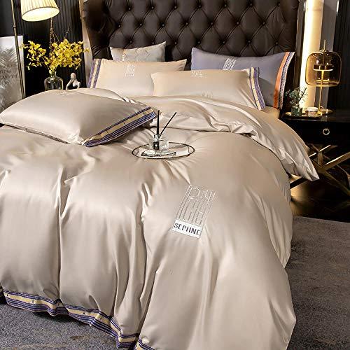 Individual Funda de edredón y Funda,XIA Siki Down traje cuatro set, seda nórdica seda de seda cama doble cama individual almohada de cama, amigos colegas hombres, dia de la madre regalo-Volar_1,8 m d