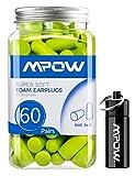 Mpow 106A Soft Sleep Foam Earplugs, Slim Small-sized Ear Plugs, NRR 32dB/SNR 34dB