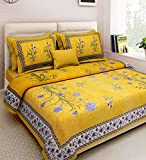Xtore YB Traditional Jaipuri Print Bed Sheet with 2 Pillow Covers (100% Cotton) (90 x 108 inches)- Premium Quality