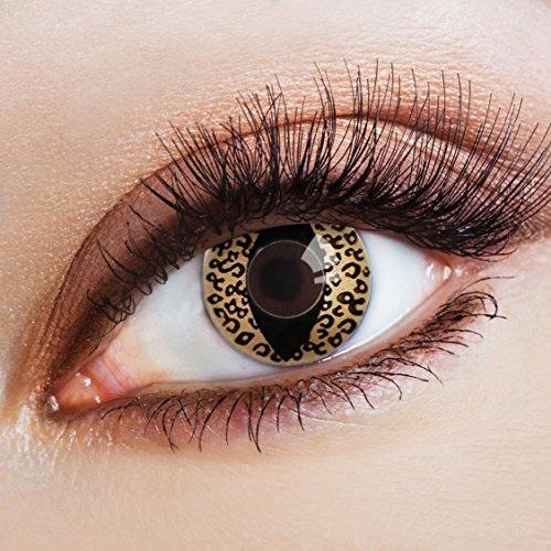 aricona Kontaktlinsen Farblinsen braune Kontaktlinsen Katzenaugen sexy Halloween Augen Make-up