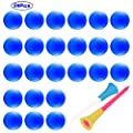 Adwikoso ???? 24 Pcs Practice Golf Balls Foam Soft Elastic Golf Balls, Indoor Putting Green Outdoor Golf Training Aid Balls with 2 Golf Ball Tees (Blue)