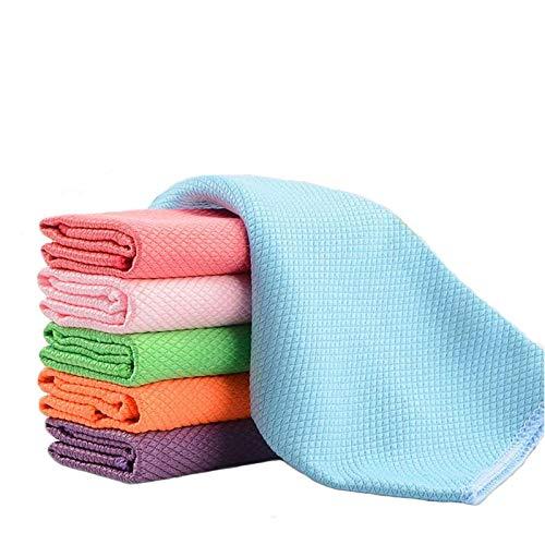 GEVJ Absorbens Microvezel Keuken Handdoeken Schaal Sneldrogende Reiniging Handdoek Multi-Purpose Vaatdoek Rag 3 Stks/Pack 30 * 40Cm