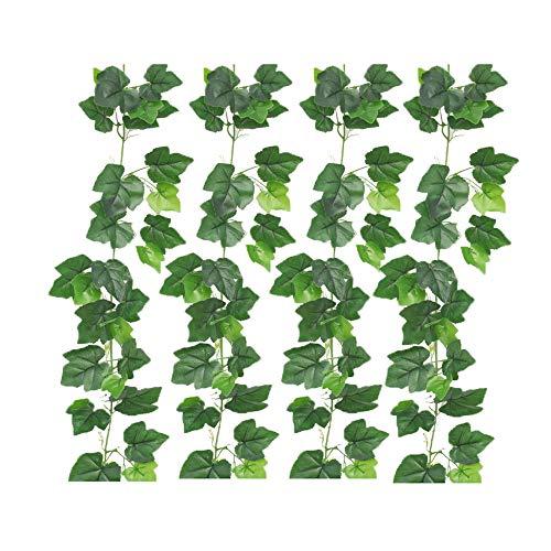 RENS Artificial Green Plant Decoration,4 Twig GeSimuleerde Druif Blad Wijnstok, Gebladerte Wijnstokken van Hangende Wanddecoratie