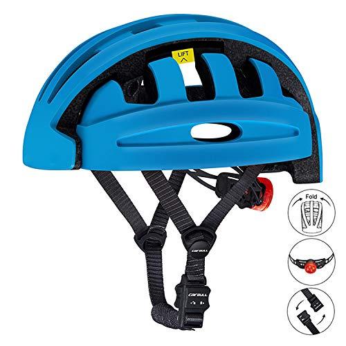 Dagea Casco de Bicicleta Plegable,con Visera extraíble Gafas de luz Trasera de...