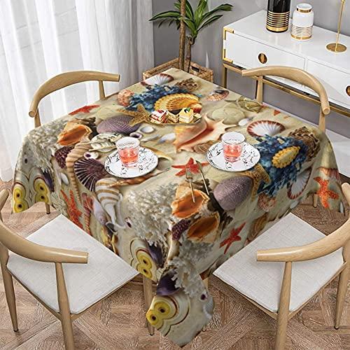 Mantel de poliéster a prueba de aceite, a prueba de agua, a prueba de arrugas, a prueba de manchas, adecuado para mesa de comedor y cocina, decoración de mesa rectangular, personalizable